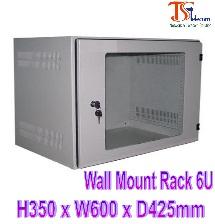 Tủ mạng treo tường Wall Mount Rack 6U Tisatel TS-6WM